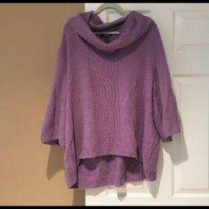 sweater with cowl neck and 3/4 bell sleeves   2X